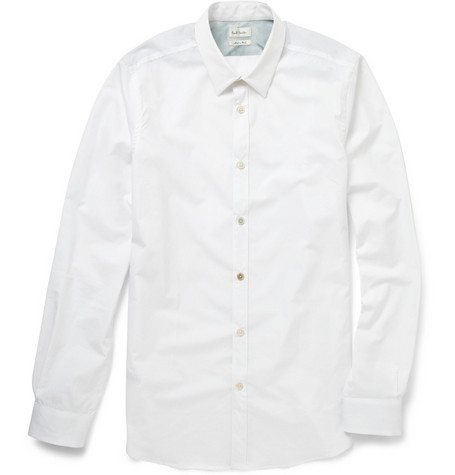 Paul Smith Regular Fit Contrast-Button Cotton Shirt