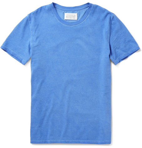 Maison Martin Margiela Overdyed Crew Neck Cotton T-Shirt