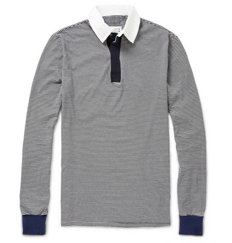 Maison Martin Margiela Striped Cotton Polo Shirt