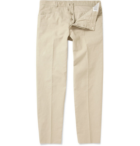 Maison Martin Margiela Slim-Fit Cotton-Blend Trousers