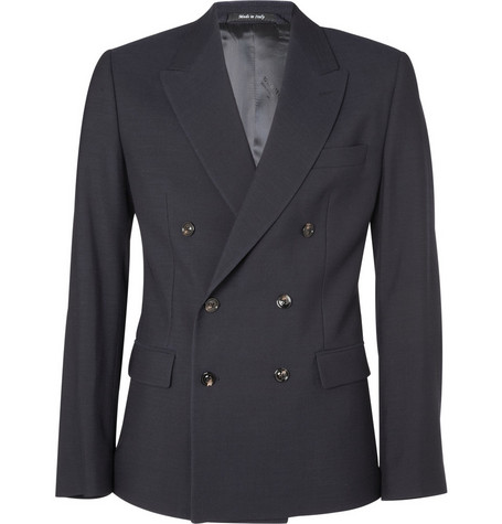 Maison Martin Margiela Slim Fit Double-Breasted Blazer