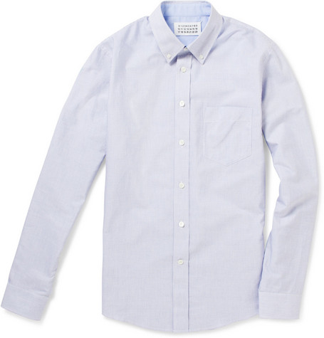 Maison Martin Margiela Striped Button-Down Collar Shirt