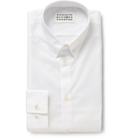 Maison Martin Margiela Press Stud Collar Oxford Shirt