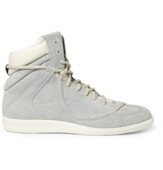 Maison Martin Margiela Suede and Leather High Top Sneakers