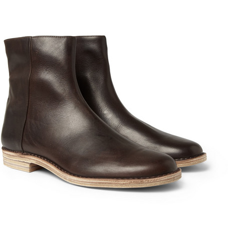 Maison Martin Margiela Zipped Leather Boots