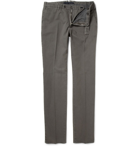 Slowear Incotex Slim-Fit Stretch Cotton-Piqué Trousers