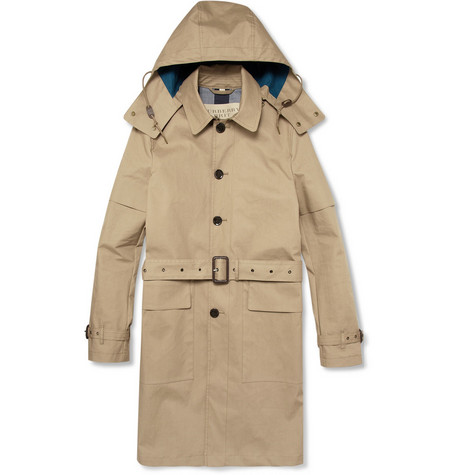 Burberry Brit Rubberised Cotton Parka Jacket