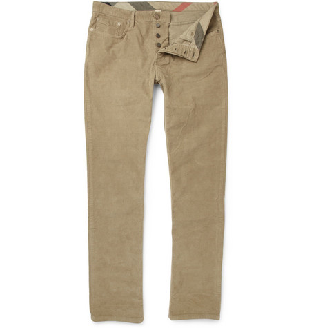 Burberry Brit Steadman Straight-Leg Corduroy Trousers
