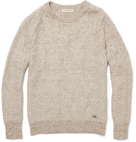 Burberry London Flecked Cotton-Blend Sweater