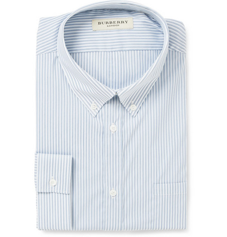 Burberry London Button-Down Collar Cotton-Blend Shirt