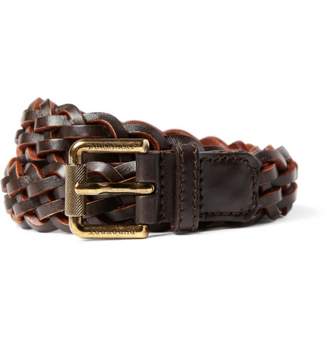 Burberry Shoes & Accessories Woven Leather Belt