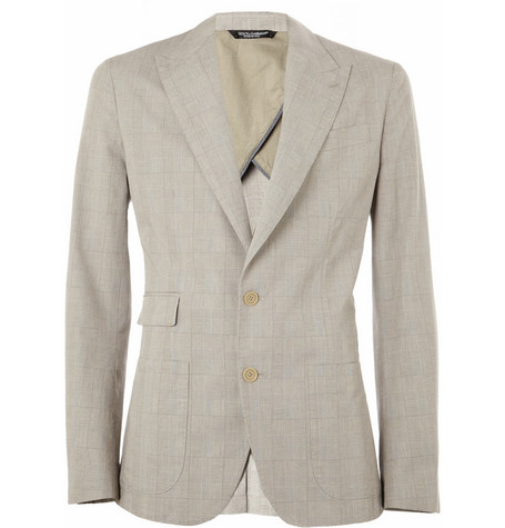 Dolce & Gabbana Prince of Wales Check Cotton-Blend Blazer