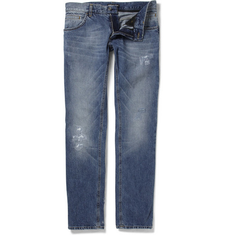 Dolce & Gabbana Gold-Fit Distressed Denim Jeans
