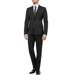 Dolce & Gabbana Navy Martini Stretch-Wool Suit