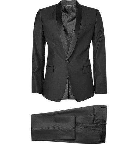 Dolce & Gabbana Gold Fit Wool-Blend Tuxedo Suit
