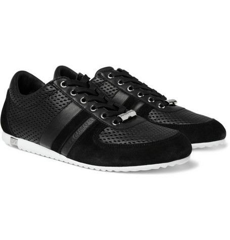 Dolce & Gabbana Leather and Suede Sneakers