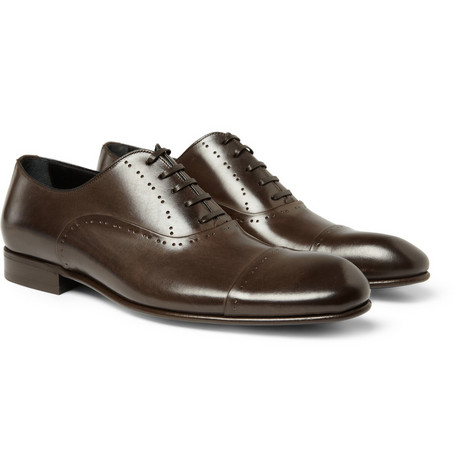 Dolce & Gabbana Punctured Leather Oxford Shoes