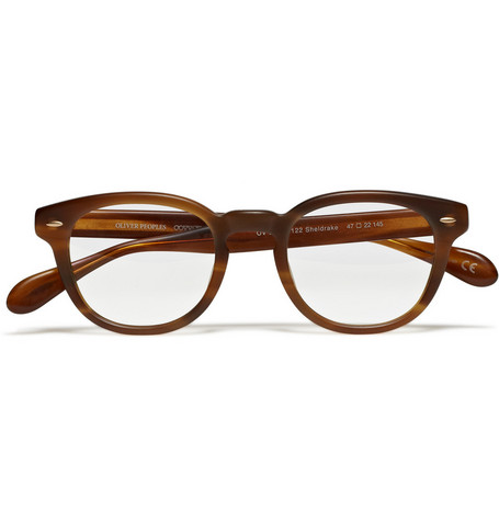 Oliver Peoples Round Tortoiseshell Optical Glasses