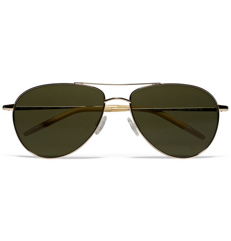 Oliver Peoples Double-Bridge Aviator Sunglasses