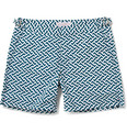 Orlebar Brown - Bulldog Mid-Length Geometric-Print Swim Shorts