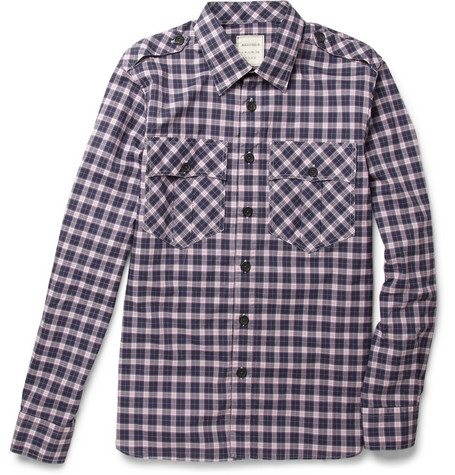 Billy Reid Plaid Cotton Shirt