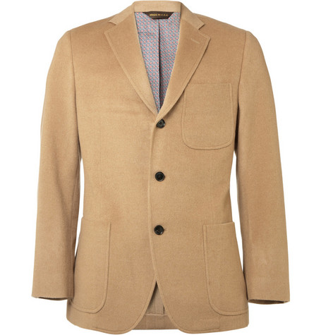 Billy Reid Heirloom Slim-Fit Camel Hair Suit Jacket