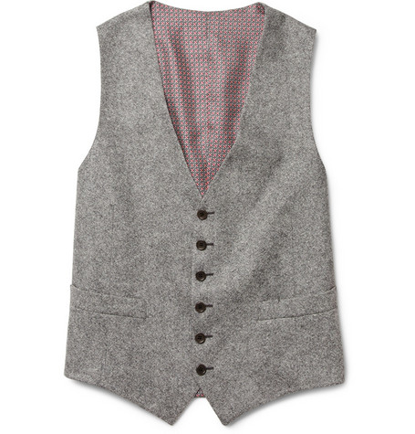 Billy Reid Heirloom Tweed Wool Suit Waistcoat