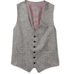 Billy Reid Tweed Wool Suit Waistcoat