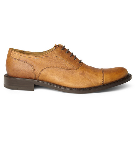 Billy Reid Toe Cap Leather Oxford Shoes