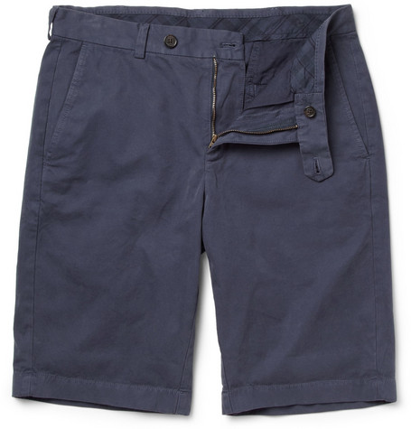 Brooks Brothers Straight-Leg Cotton-Twill Bermuda Shorts