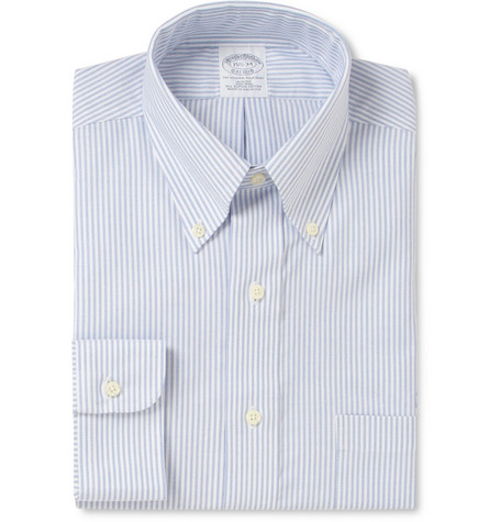 Brooks Brothers Non-Iron Striped Cotton Oxford Shirt