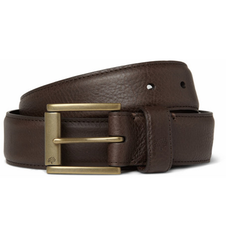 Mulberry Dark Brown 3.5cm Full-Grain Leather Belt