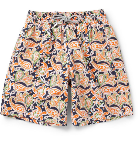 Vilebrequin Okoa Long-Length Paisley-Print Swim Shorts