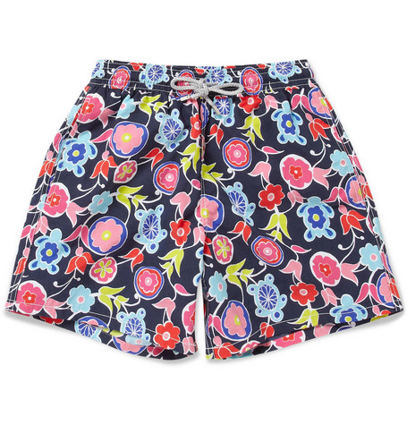 Vilebrequin Moorea Mid-Length Patterned Swim Shorts