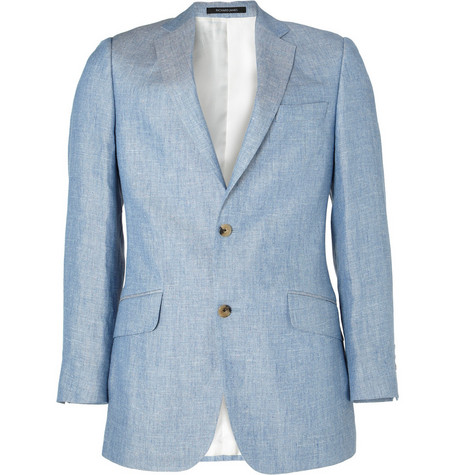Richard James Linen and Silk-Blend Chambray Blazer