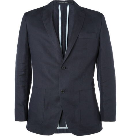 Richard James Slim-Fit Linen-Blend Suit Jacket