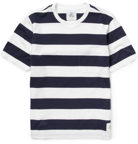 Black Fleece Striped Cotton T-shirt