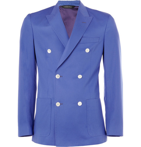 Paul Smith London Abbey Double-Breasted Cotton-Twill Blazer