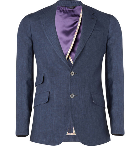 Paul Smith London Byard Half-Lined Linen Blazer