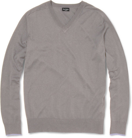 Paul Smith London Silk-Blend V-Neck Sweater