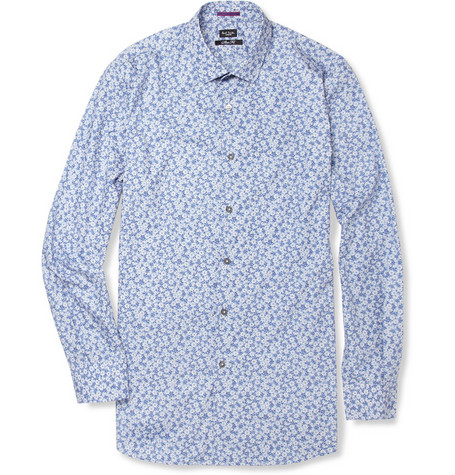 Paul Smith London Floral-Print Cotton Shirt