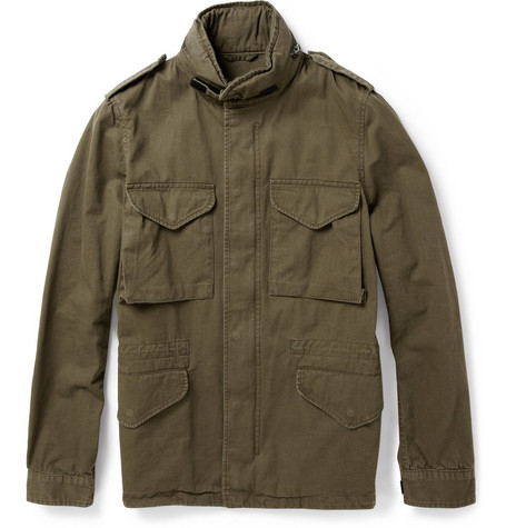 Aspesi Japanese Cotton-Twill Field Jacket