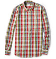 Aspesi Lightweight Slim-Fit Plaid Cotton Shirt