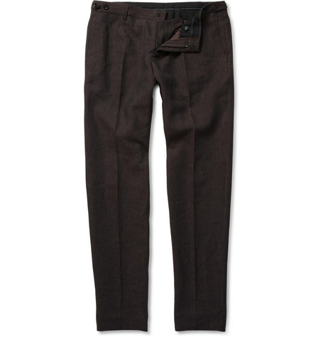 Burberry Prorsum Slim-Fit Linen Trousers