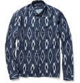 Burberry Prorsum Ikat-Print Cotton and Linen-Blend Shirt