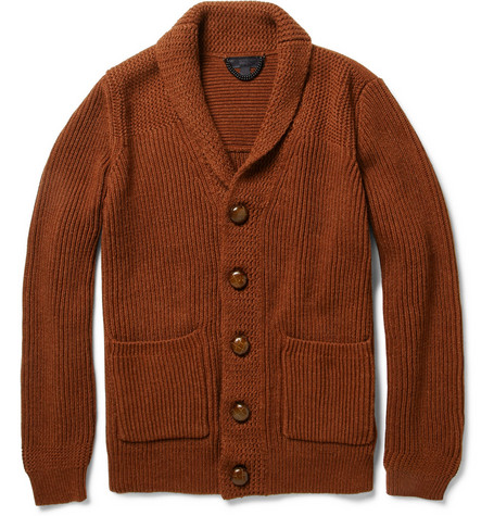 Burberry Prorsum Shawl-Collar Cotton-Blend Cardigan
