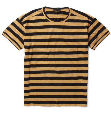 Burberry Prorsum Striped Cotton T-shirt