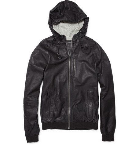 Marc by Marc Jacobs Washed Leather Bomber Jacket