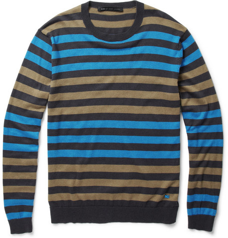 Marc by Marc Jacobs Striped Silk-Blend Sweater