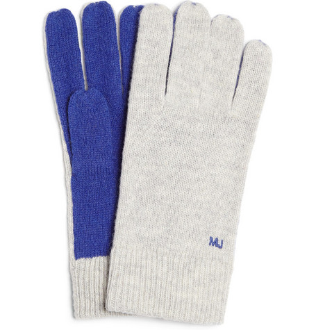 Marc by Marc Jacobs Wool-Blend Colour-Panel Gloves